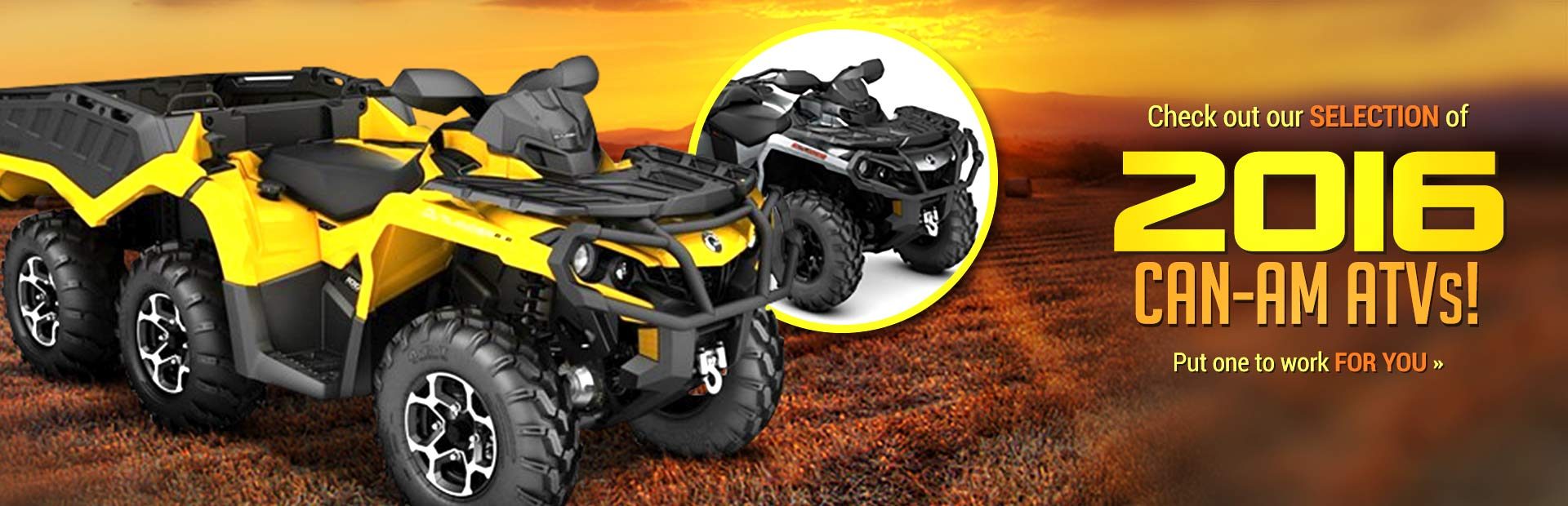Check out our selection of 2016 Can-Am ATVs!