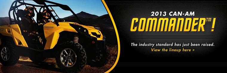 Click here to view the 2013 Can-Am Commander™.