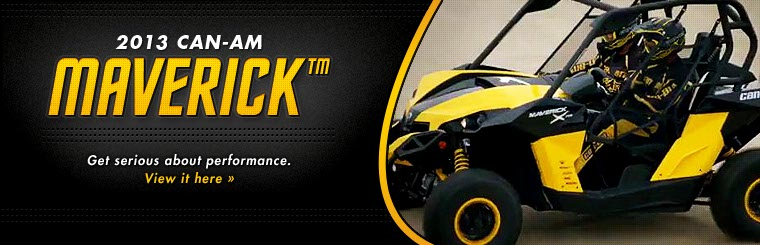 Click here to view the 2013 Can-Am Maverick™.