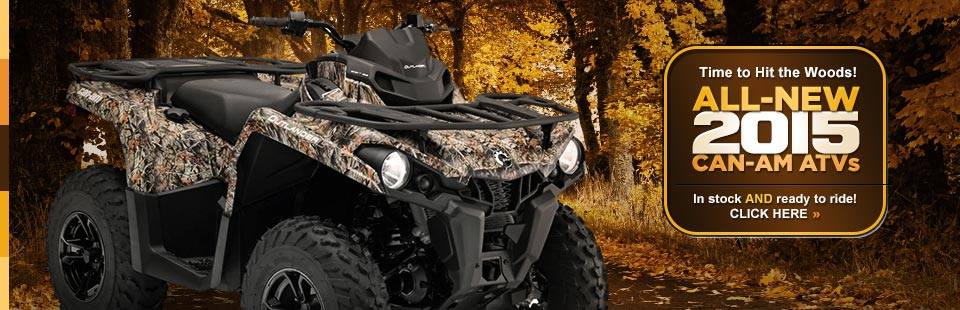 Take a look at the 2015 Can-Am ATV lineup.