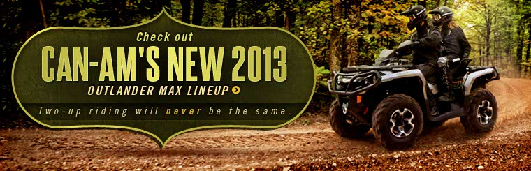 Click here to check out Can-Am's new 2013 Outlander MAX lineup.