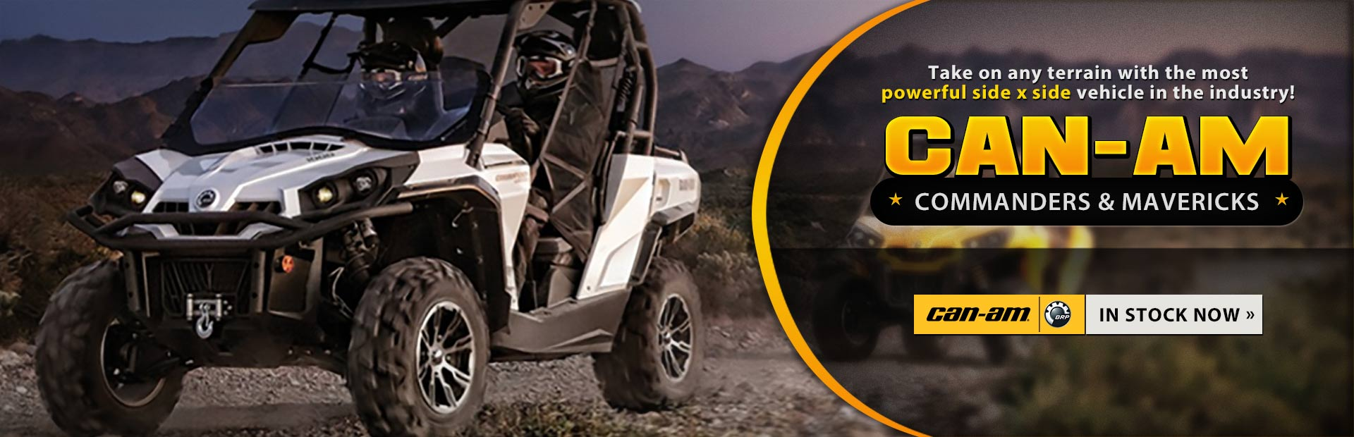 View the new Can-Am Commander and Maverick side x sides.