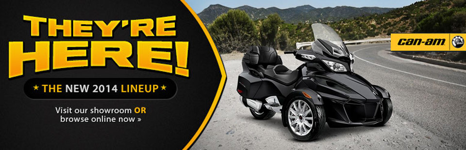 View the 2014 Can-Am Spyder lineup.