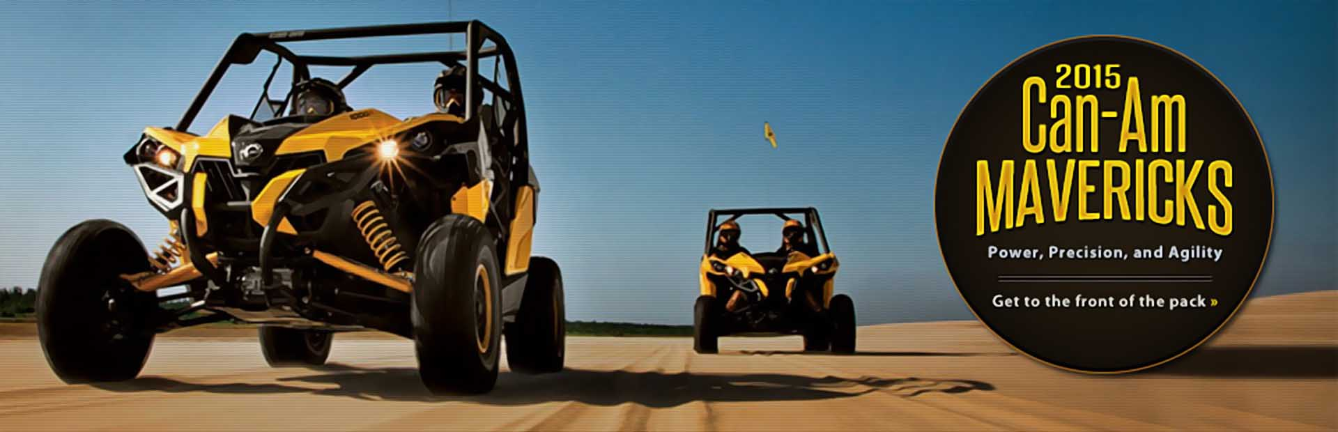 2015 Can-Am Mavericks: Click here to view the models.