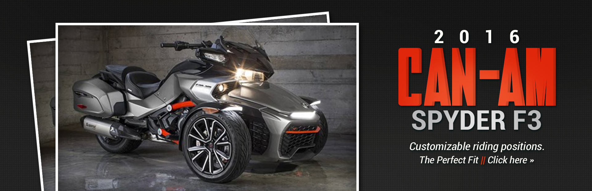 2016 Can-Am Spyder F3: Click here for details.