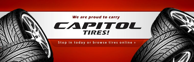 We are proud to carry Capitol tires! Stop in today or click here to browse tires online.