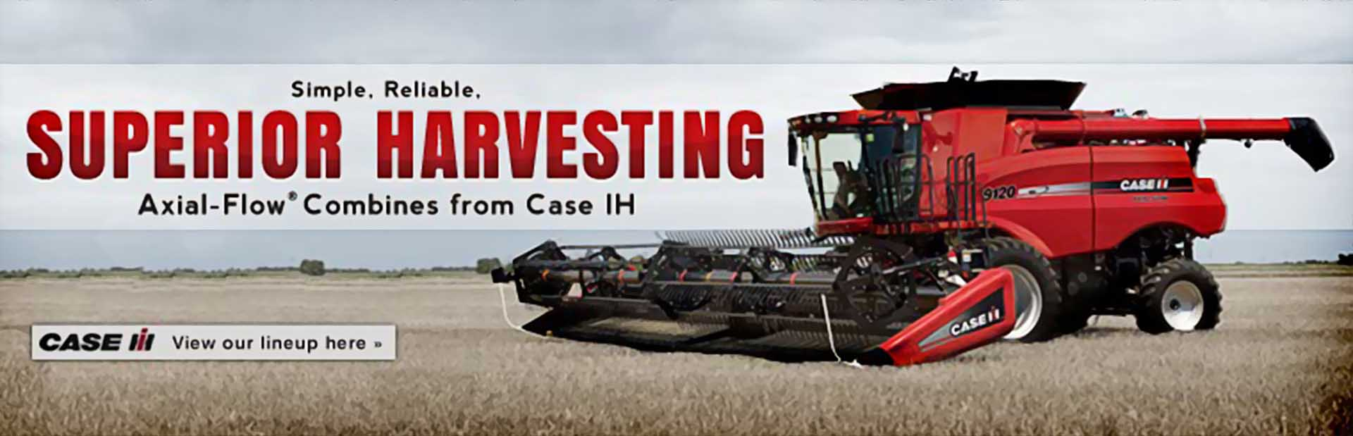 Click here to view Axial-Flow® combines from Case IH.