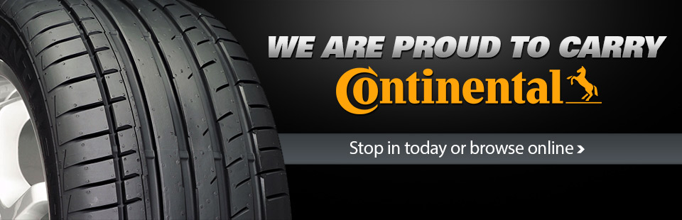 We are proud to carry Continental tires. Stop in today or click here to browse online.