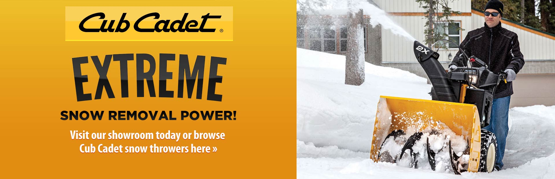 Browse Cub Cadet snow throwers.