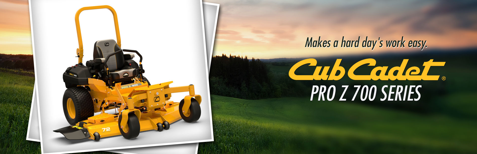Cub Cadet Pro Z 700 Series: Click here to view the models.