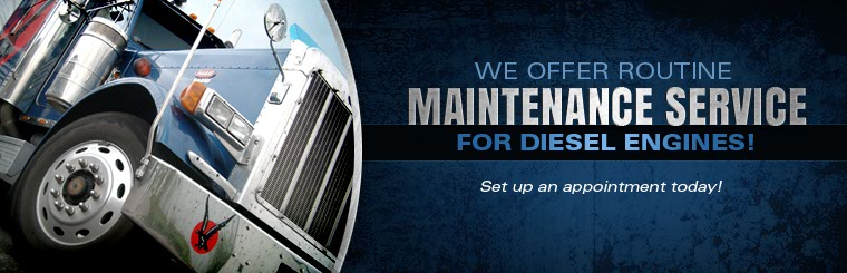 We offer routine maintenance service for diesel engines! Set up an appointment today.