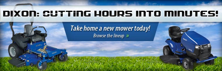 Click here to view Dixon lawn mowers!