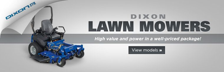 Click here to view Dixon lawn mowers.