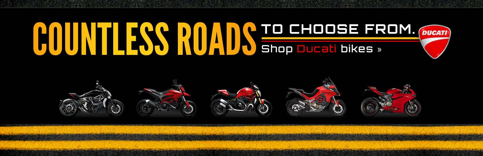 Click here to shop Ducati bikes!