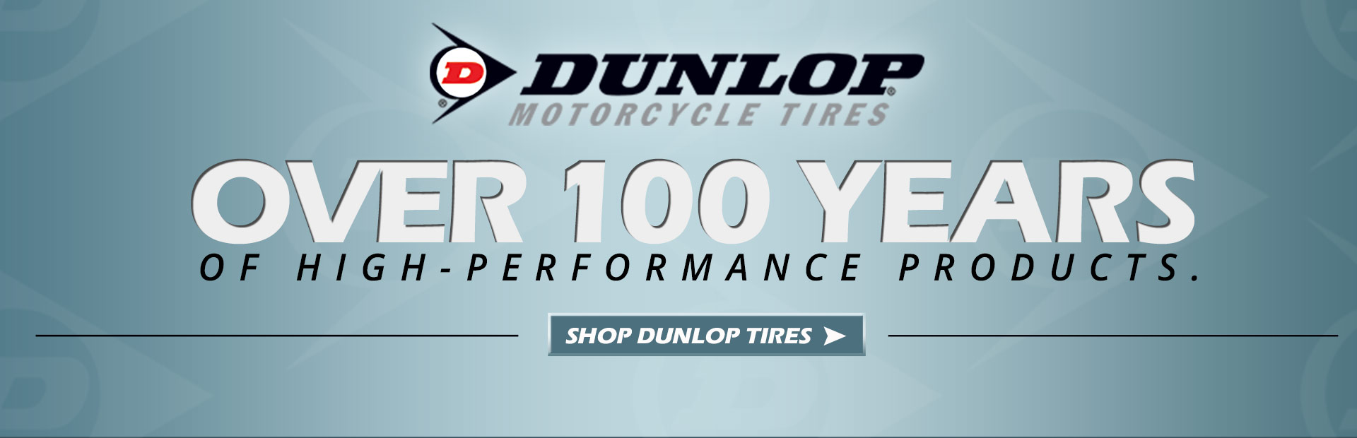 Dunlop has been making high-performance products for over 100 years. Click here to shop for Dunlop tires.