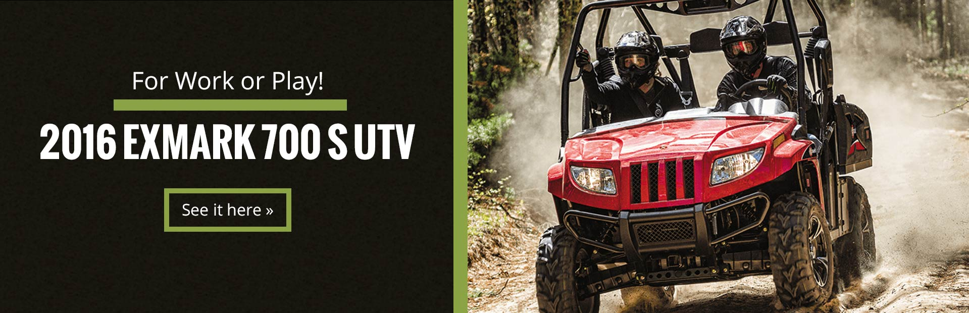 2016 Exmark 700 S UTV: Click here to view the model.