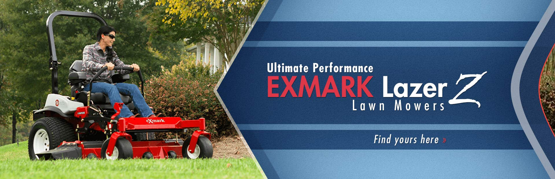 Click here to view our selection of Exmark Lazer Z lawn mowers!