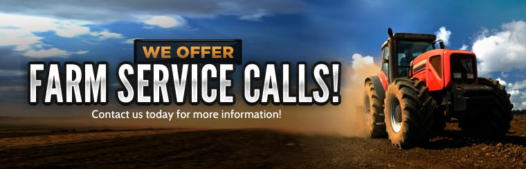 We offer farm service calls! Contact us today for more information. (636) 583-5111