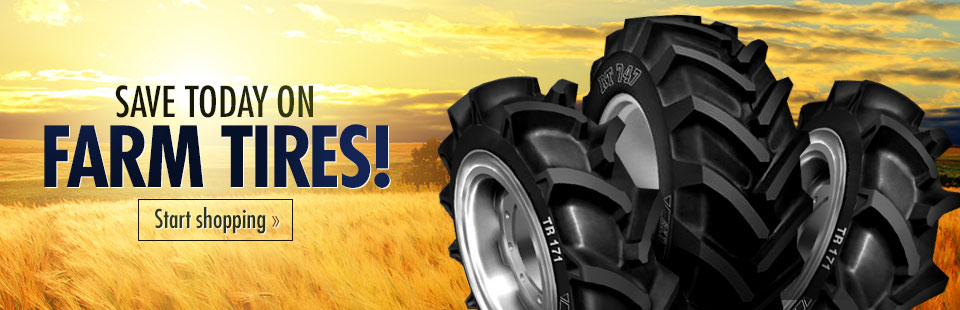 Save today on farm tires! Click here to start shopping.