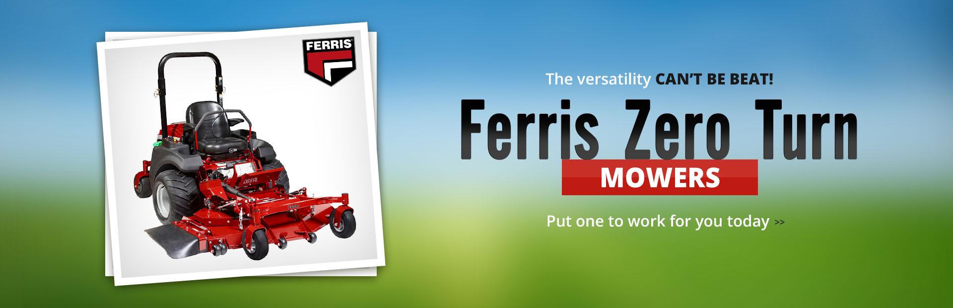 Click here to view Ferris zero-turn mowers.