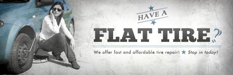 Have a flat tire? We offer fast and affordable tire repair! Contact us for details.