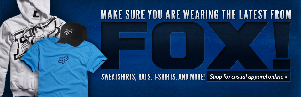 Click here to browse Fox Racing casual apparel!