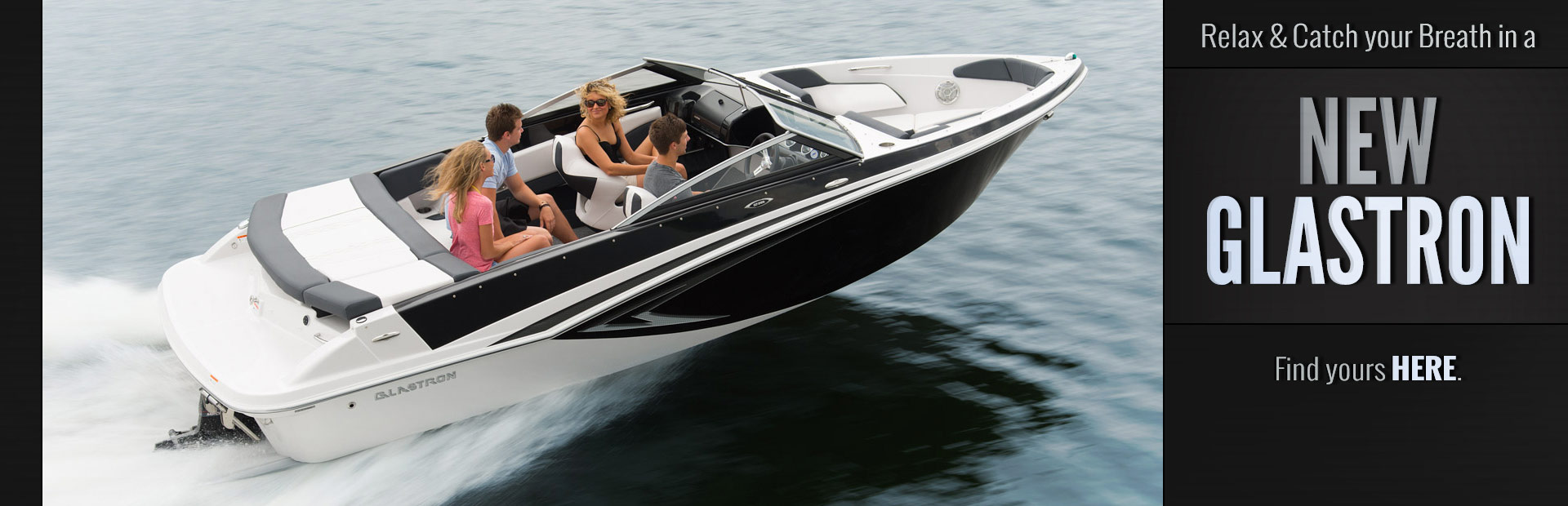 New Glastron Boats: Click here to browse our inventory.