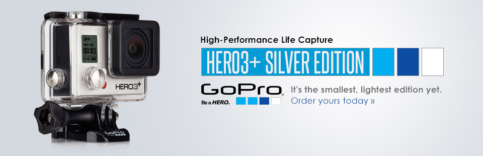 GoPro HERO3+ Silver Edition: View our selection online.