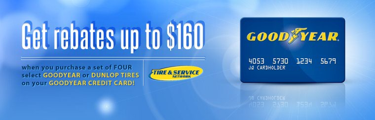 Click here to contact us for details on Goodyear and Dunlop tire rebates.