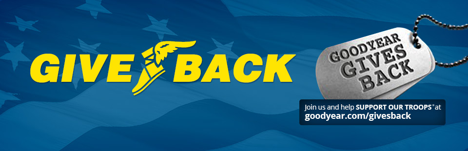 Goodyear Gives Back Program: Click here for details.