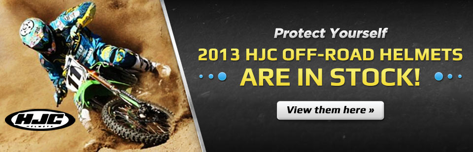Click here to view the 2013 HJC off-road helmets.