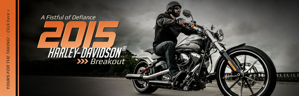 2015 Harley-Davidson® Breakout Motorcycles: Click here to view the models.
