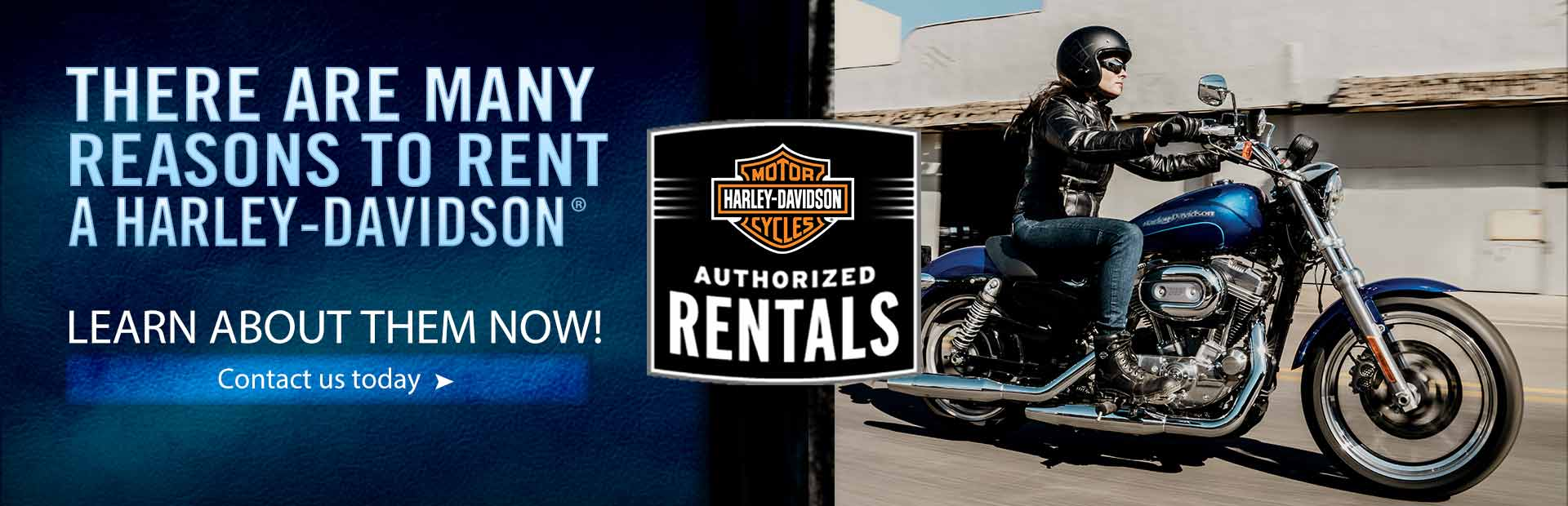 There are many reasons to rent a Harley-Davidson®. Learn about them now! Click here to contact us.
