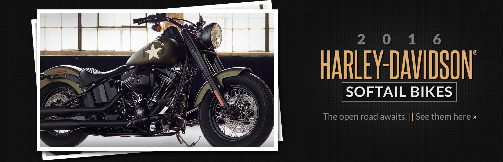 2016 Harley-Davidson® Softail Bikes: Click here to view the models.