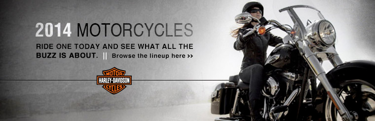 Check out the 2014 Harley-Davidson® motorcycles.