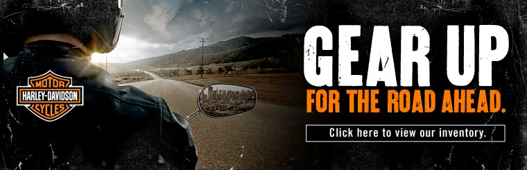 Gear up for the road ahead with Harley-Davidson®. Click here to shop online.