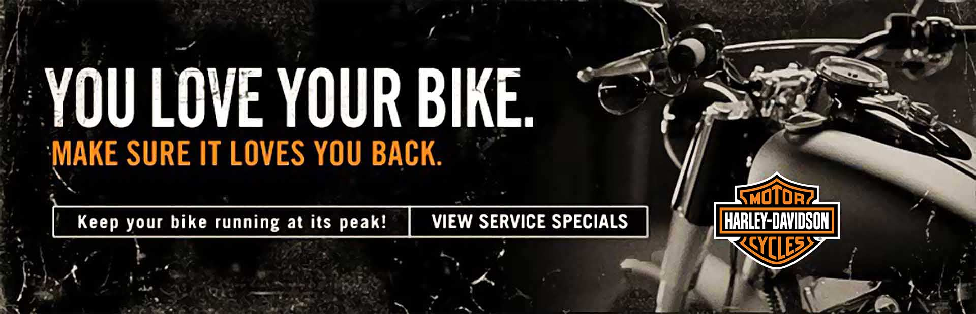 Keep your bike running at its peak! Click here to view service specials.
