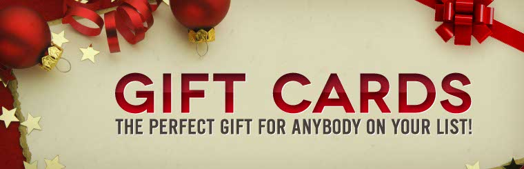 A gift card is the perfect gift for anybody on your list! Contact us for more information.