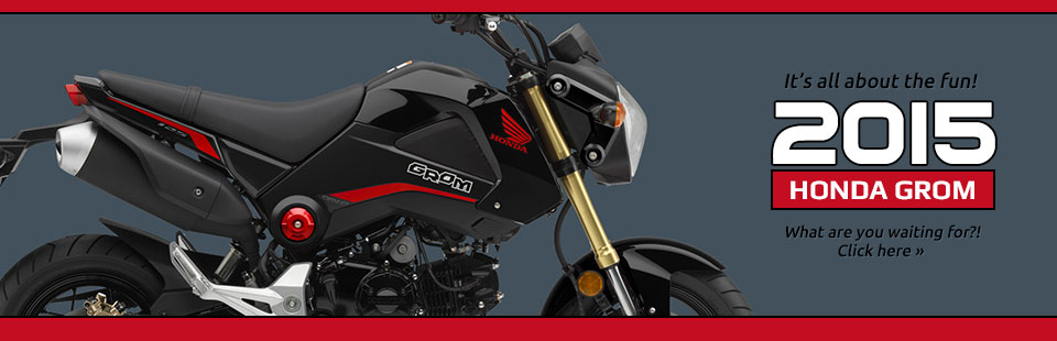 2015 Honda Grom: Click here to view the model.