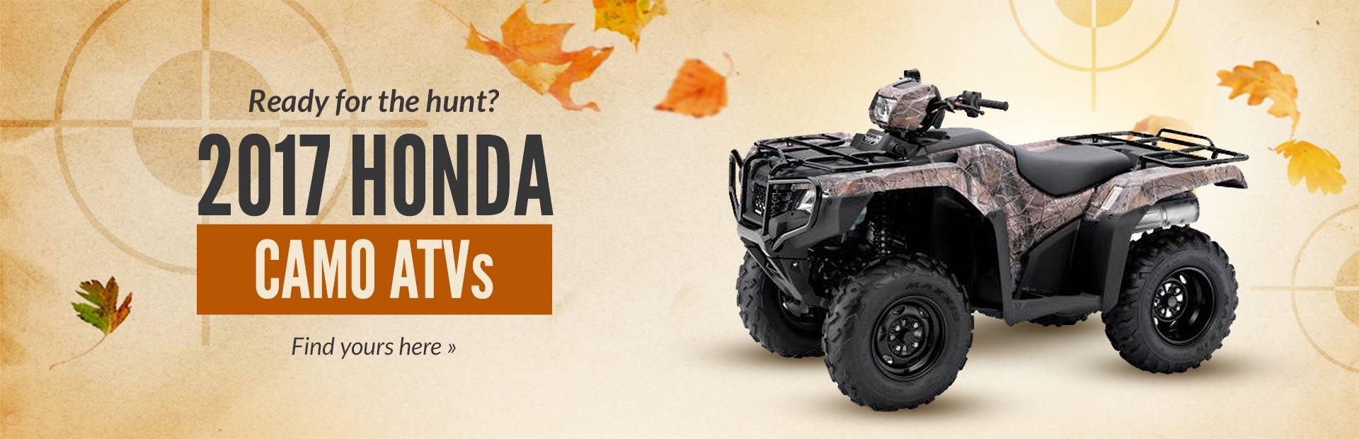 2017 Honda Camo ATVs: Click here to view the lineup.