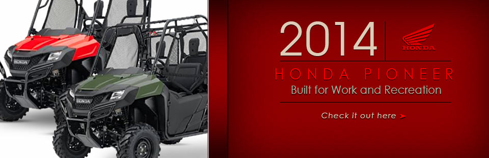 Check out the 2014 Honda Pioneer.