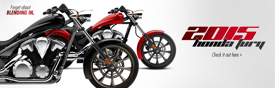 2015 Honda Fury: Click here to view the model.