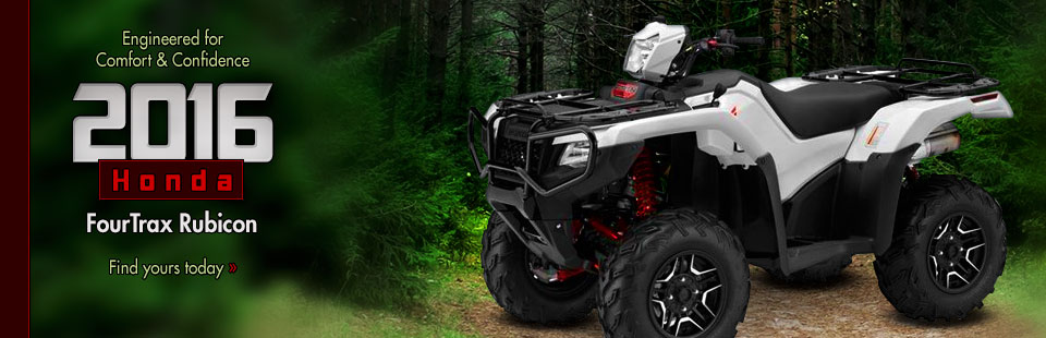 2016 Honda FourTrax Rubicon: Click here to view the models.