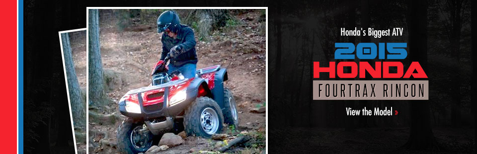 2015 Honda FourTrax Rincon: Click here to view Honda's biggest ATV!