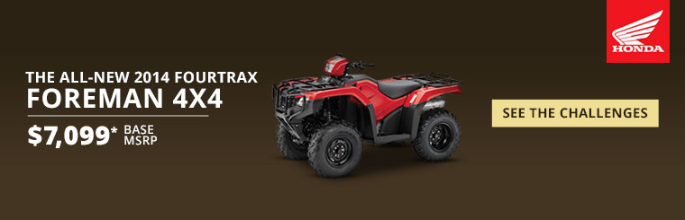 View the 2014 Honda FourTrax Foreman 4x4.