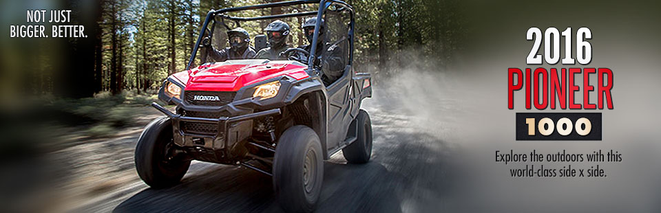2016 Honda Pioneer 1000: Click here to view the model.