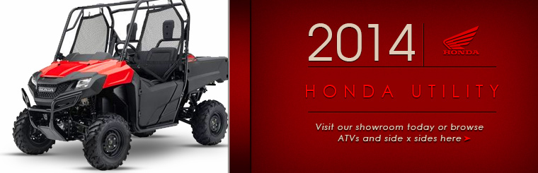 Click here to view the 2014 Honda ATVs and utility vehicles.