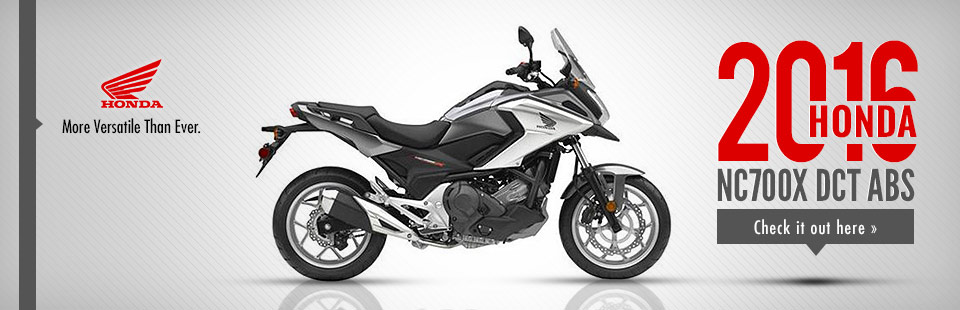 2016 Honda NC700X DCT ABS: Click here to view the model.