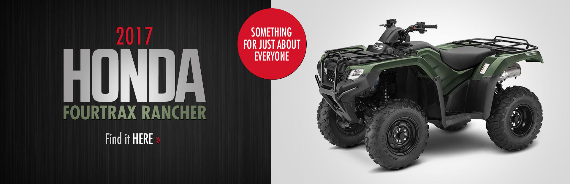 2017 Honda FourTrax Rancher ATV: Click here to view the model.