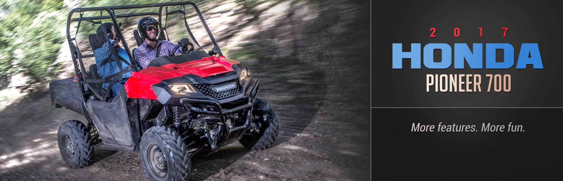 The 2017 Honda Pioneer 700: Click here for details.